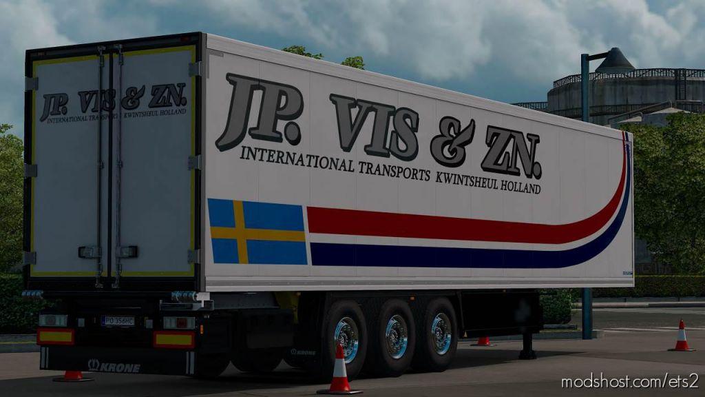 J.p. Vis & Zn. Company Krone Coolliner 8K Paintwork for Euro Truck Simulator 2