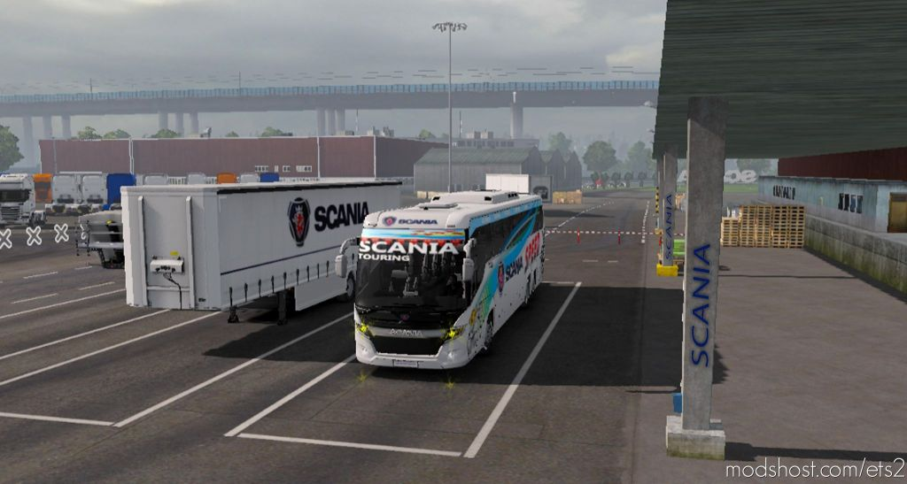 Scania Touring Speeds Bus Skin Official Trailer Skin For 1.35 for Euro Truck Simulator 2