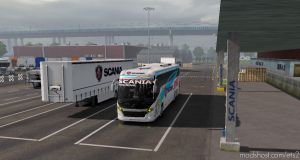 Scania Touring Speeds Bus Skin Official Trailer Skin For 1.35 for Euro Truck Simulator 2