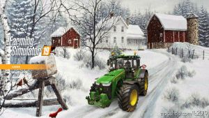 Winter Farm Menu Background for Farming Simulator 2019