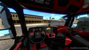Mercedes Actros Mp4 Red Interior Dashboard 1.35.X for Euro Truck Simulator 2