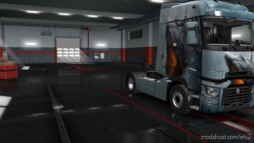 Skins Fish Submarine For SCS Renault T 1.36 for Euro Truck Simulator 2