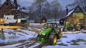 Winter Night Farm Menu Background for Farming Simulator 2019
