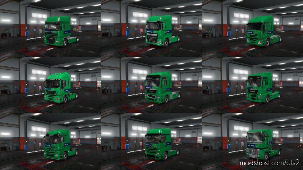 European Logistics Companies Paint Jobs Pack V1.4 for Euro Truck Simulator 2
