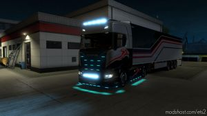 Alexd Flare And 10.000 K Lights For All Trucks V1.7 for Euro Truck Simulator 2