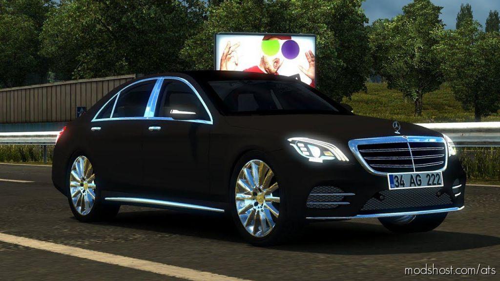 Mercedes Benz S400D 4Matic 2019 1.35+ for American Truck Simulator