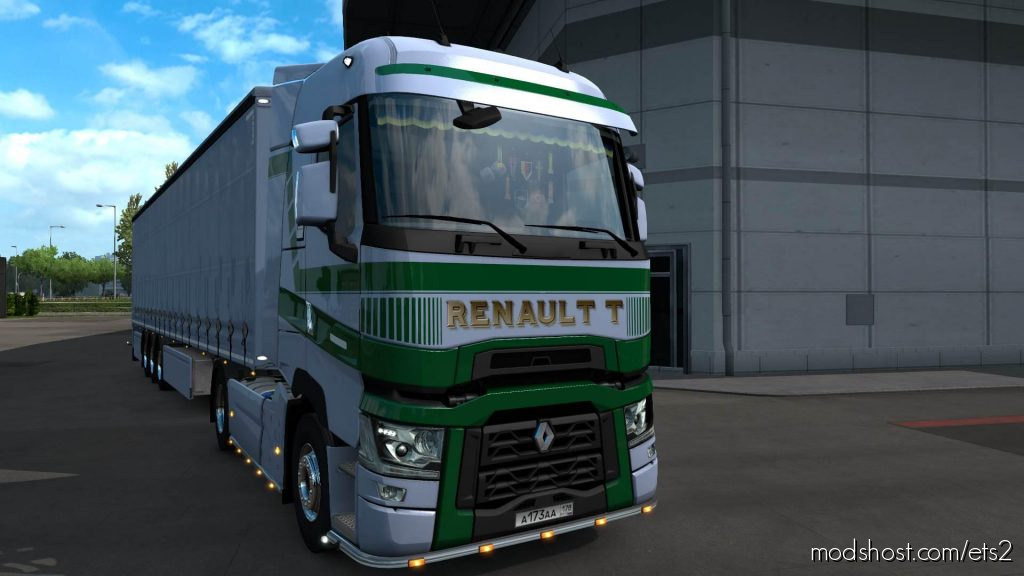 Renault T Green Lines Skin for Euro Truck Simulator 2
