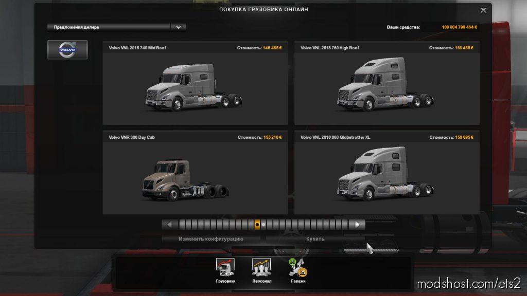 Volvo VNL / Volvo VNR Ets2 1.36 for Euro Truck Simulator 2