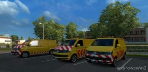 VW Escort Vans In Traffic 1.36.X for Euro Truck Simulator 2