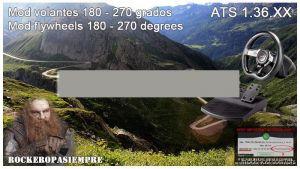 Mod For Steering Wheel 180-270 Degrees 1.36.X for American Truck Simulator
