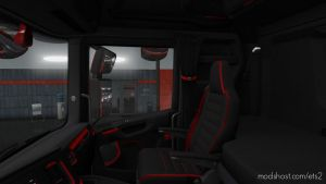 Scania S&R Cmi Black-Red Interior for Euro Truck Simulator 2