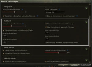 Tank Info Panel Mod [1.6.1.4] for World of Tanks