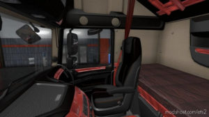 Daf E6 Red Wood Interior 1.36.X for Euro Truck Simulator 2