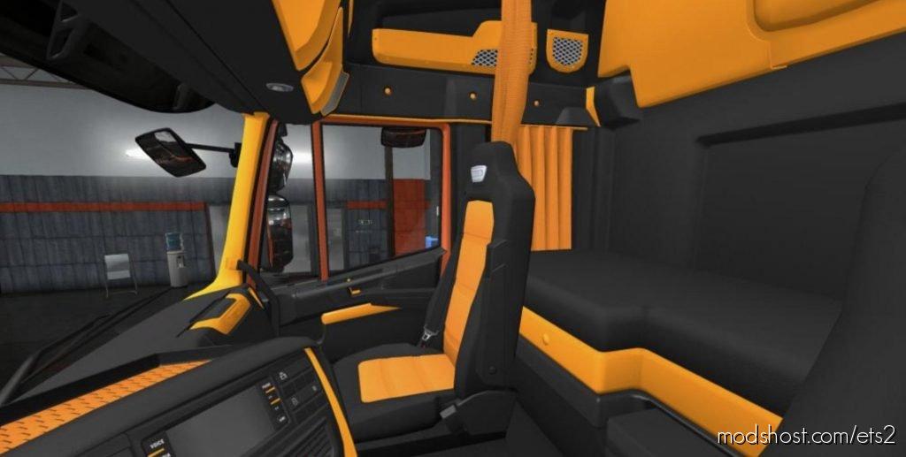 Iveco Hi-Way Black – Orange Interior 1.36.X for Euro Truck Simulator 2