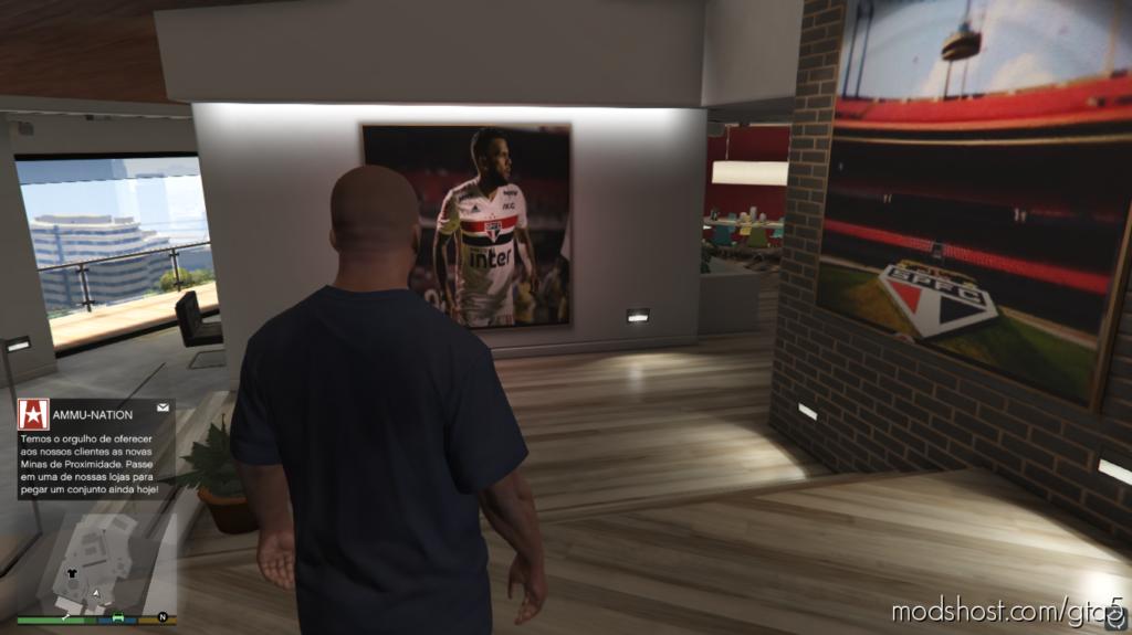 Quadros, Revistas E Poster Spfc for Grand Theft Auto V
