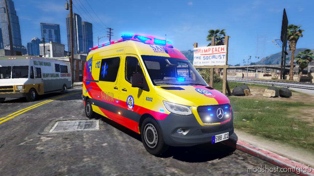 Samur-Ambulance Mercedes Sprinter for Grand Theft Auto V