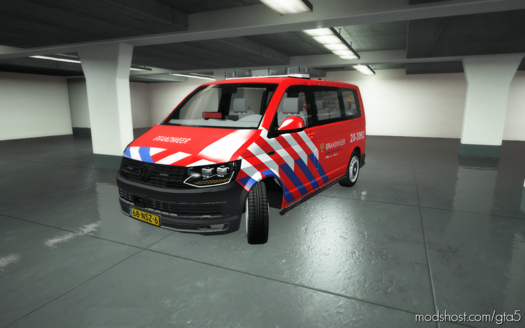 Volkswagen T6 Brandweer Ovd for Grand Theft Auto V