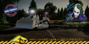 Bulldozer D8T Eiffage V1.5 for Farming Simulator 2019