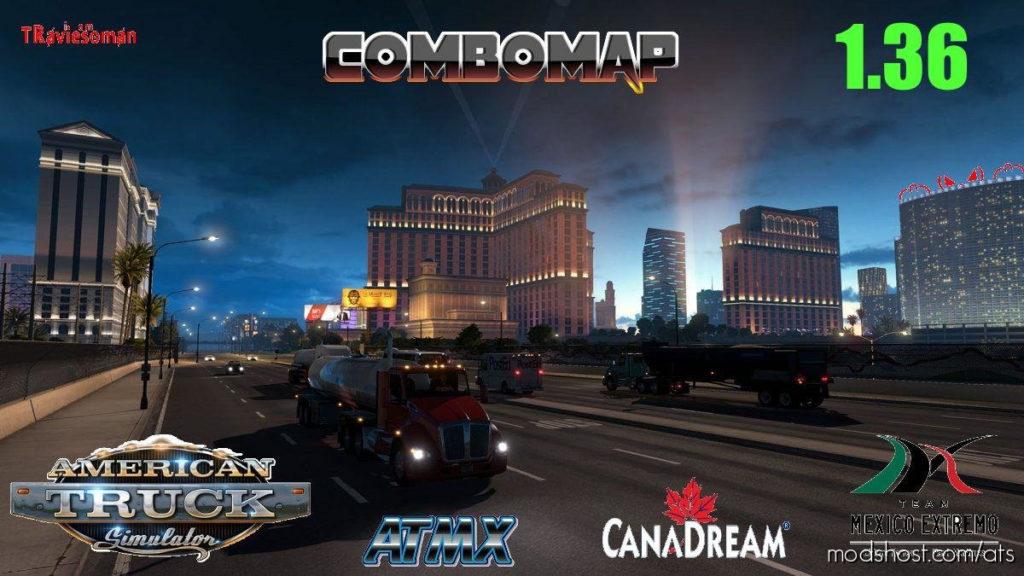 Super Combo Map [1.36] for American Truck Simulator