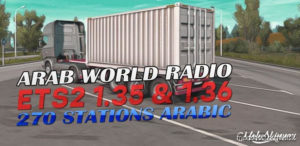Arab World Radio 1.36 for Euro Truck Simulator 2