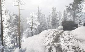 Dark Forest Snow Map for MudRunner