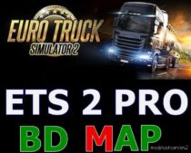 Pro BD Map V8.2 1.35 for Euro Truck Simulator 2