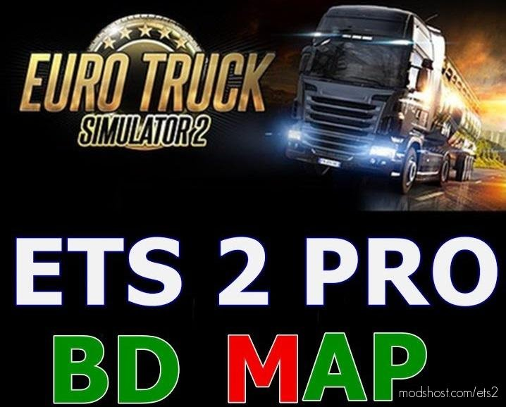 Pro BD Map V8.2 1.35 for Euro Truck Simulator 2