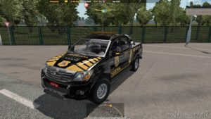 Hilux Etspx Policia Federal Brazil V1.2 for Euro Truck Simulator 2