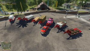 2014 Pickup With Semi-Trailer And Autoload for Farming Simulator 2019