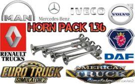 Horn Pack 1.36 for Euro Truck Simulator 2