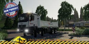 Mercedes Arocs Benne Eiffage V1.5 for Farming Simulator 2019