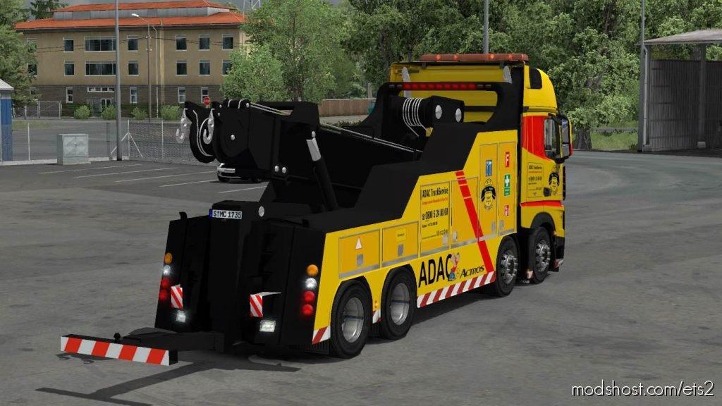 Mercedes Actros Mp4 Crane Truck 1.35 for Euro Truck Simulator 2