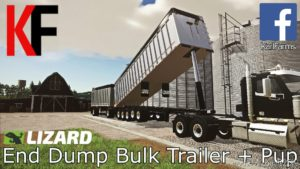 Lizard End Dump Bulk Trailer + Pup Trailer for Farming Simulator 2019