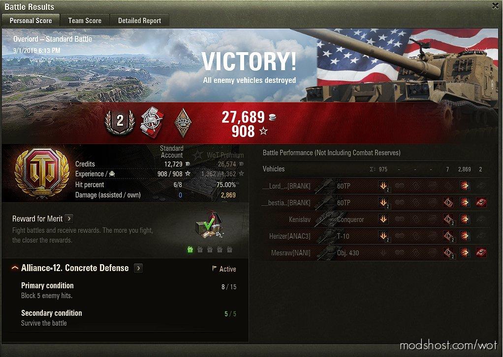 Hawg's Nation Flag Battle Results ++ [1.7.0.0] for World of Tanks