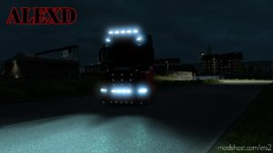 Alexd Flare And 5500 K Lights For All Trucks V1.4 for Euro Truck Simulator 2