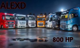 Alexd 800 Hp Engine All Trucks V1.5 for Euro Truck Simulator 2