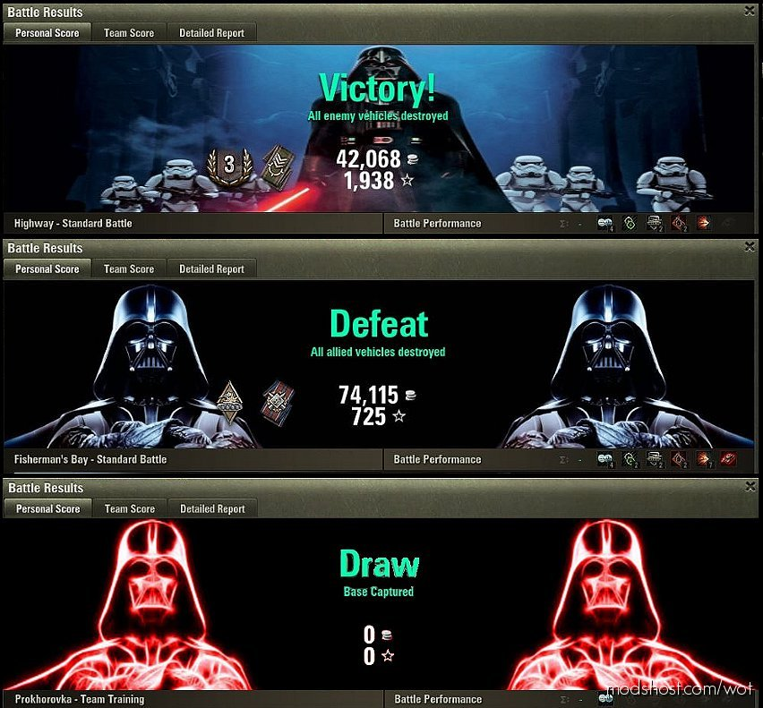 Darth Vader Battle Results [1.7.0.0] for World of Tanks