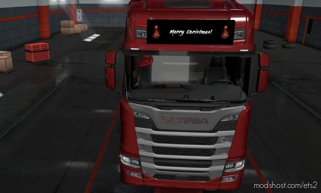 Merry Christmas Lightbox For Scania Nextgen 1.36.X for Euro Truck Simulator 2