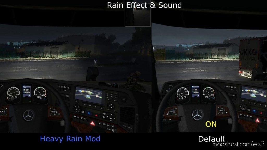 Realistic Rain V2.7 (Old Heavy Rain) Ets2 1.36 for Euro Truck Simulator 2
