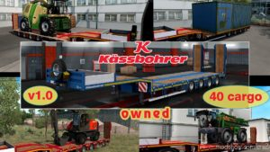 Ownable Overweight Trailer Kassbohrer Lb4E V 1.1.2 for Euro Truck Simulator 2