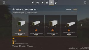 Hot Ballenlager V2.0.3 for Farming Simulator 2019