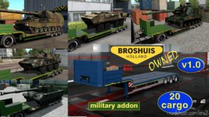 Military Addon For Ownable Trailer Broshuis V1.2.2 for Euro Truck Simulator 2
