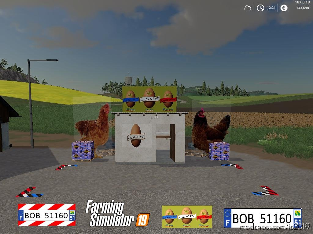 Egg Sale Point By Bob51160 for Farming Simulator 2019