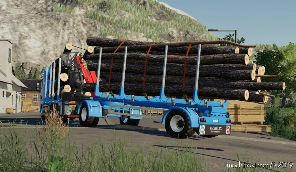 Biobeltz Turntable Timber Trailer for Farming Simulator 2019