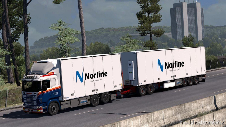 Kraker/Ntm/Ekeri Tandem Addon For Rjl Scania Rs & R4 V2.1 1.36 for Euro Truck Simulator 2