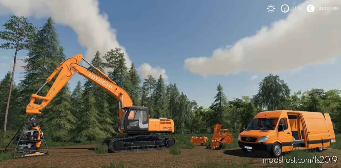 Hitachi Zaxis 290 Lcn-5 for Farming Simulator 2019