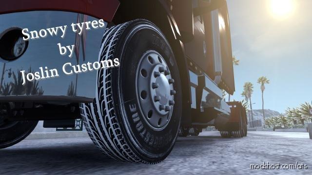 Snowy Truck/Trailer Tires [1.36.X] for American Truck Simulator