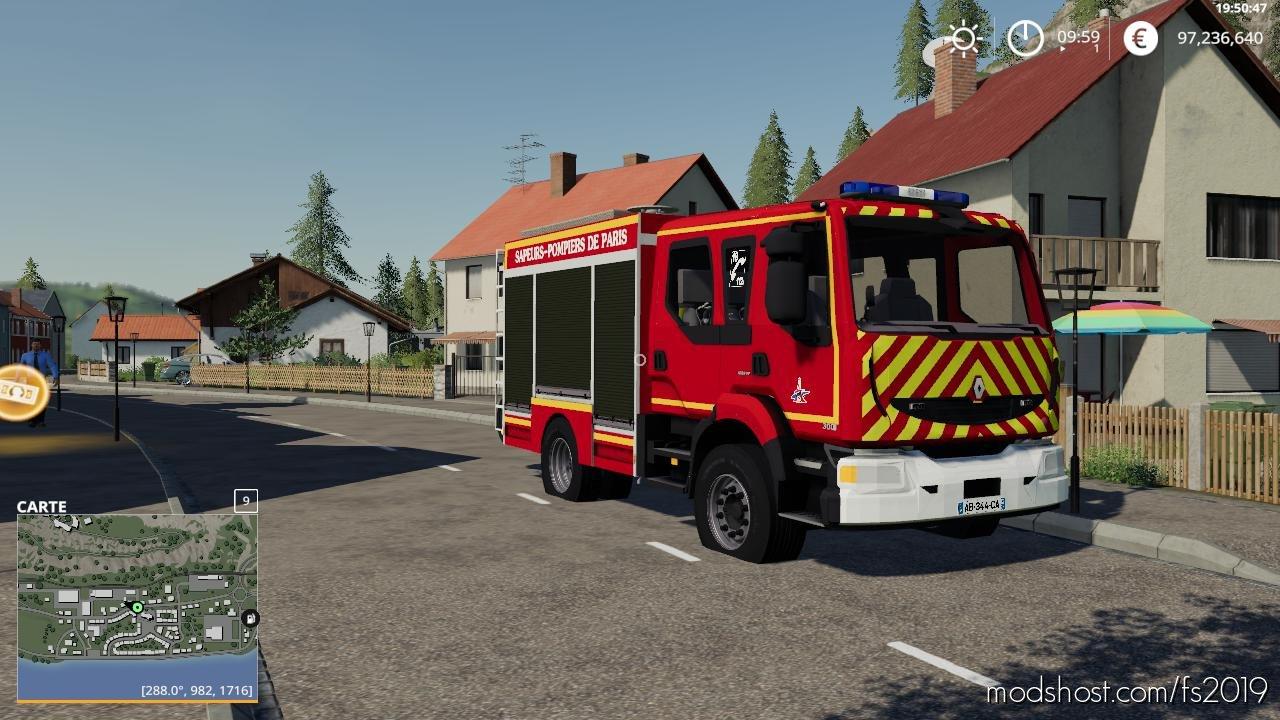 Fpt Pompiers De Paris Bspp for Farming Simulator 2019