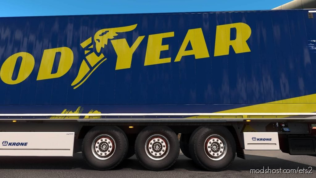 Krone Liftable & Steerable Axle V2.6 for Euro Truck Simulator 2