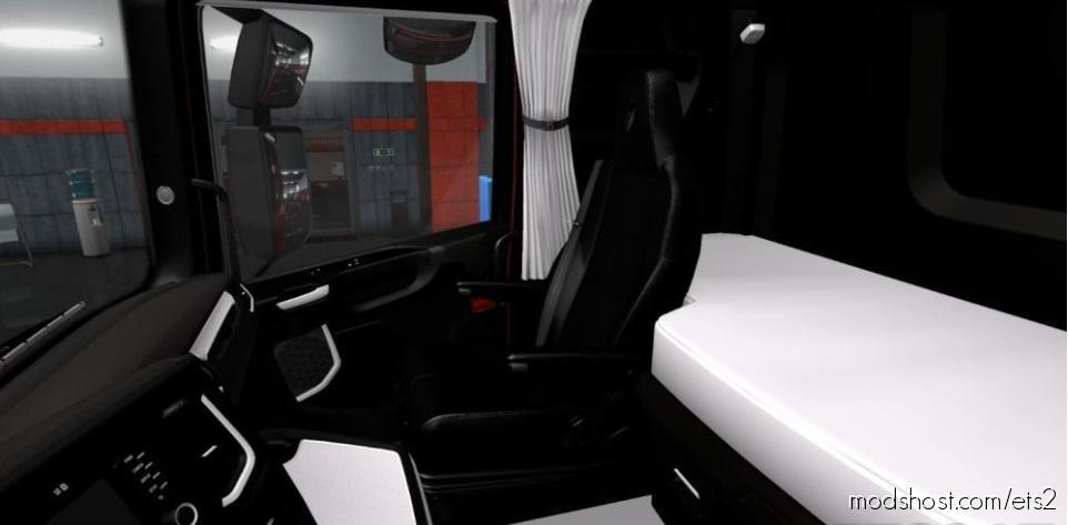 Scania S & R 2016 Black – White Interior 1.36.X for Euro Truck Simulator 2